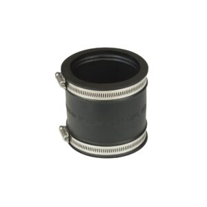 3 in Flexible Rubber Coupling with Clamps