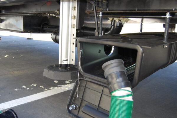 Connecting Waste Master Extension Hose via Waste Master Storage Enclosure